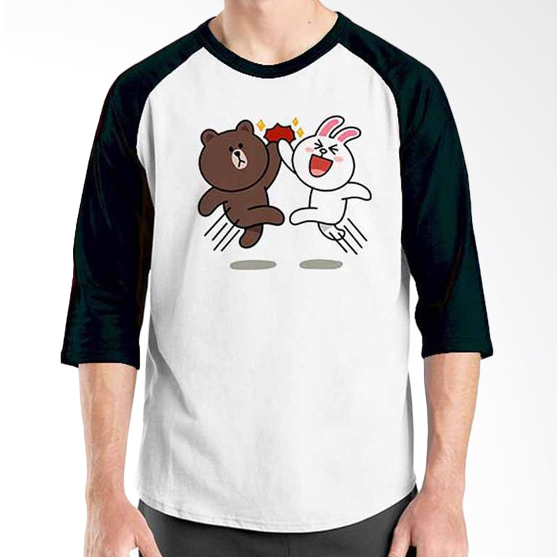 Ordinal Funny Emoticon Edition Brown & Cony 02 Raglan