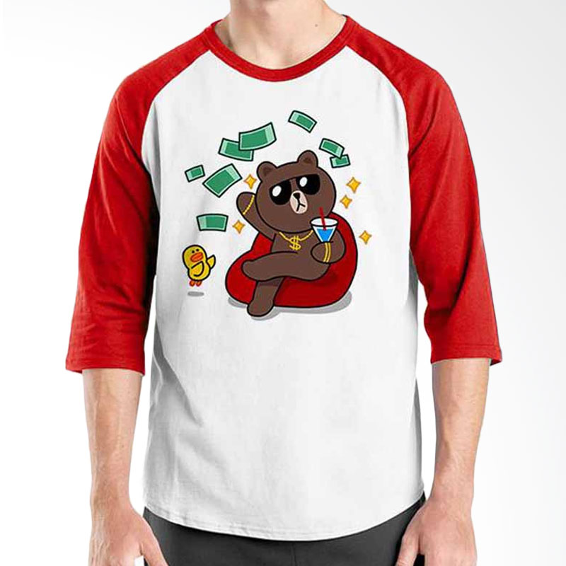 Ordinal Funny Emoticon Edition Brown 03 Raglan
