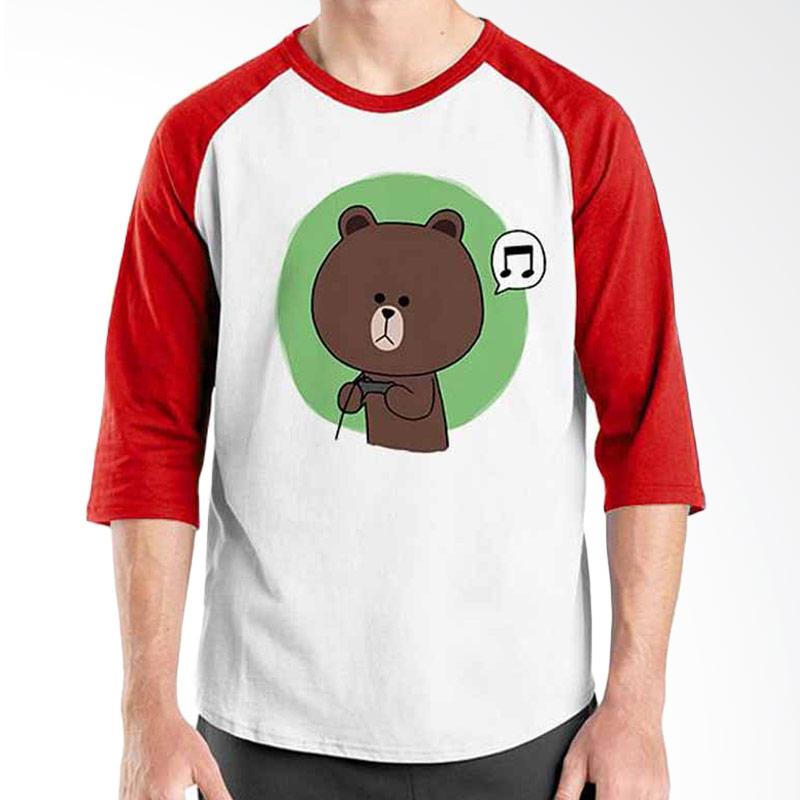 Ordinal Funny Emoticon Edition Brown 04 Raglan
