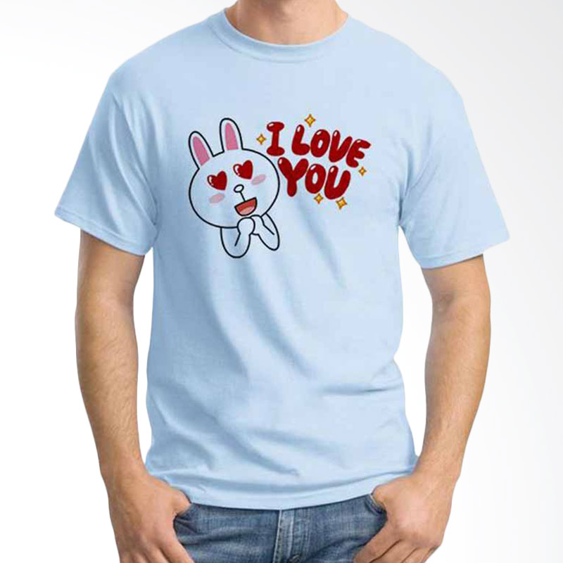 Ordinal Funny Emoticon Edition Cony 13 Light Blue T-shirt