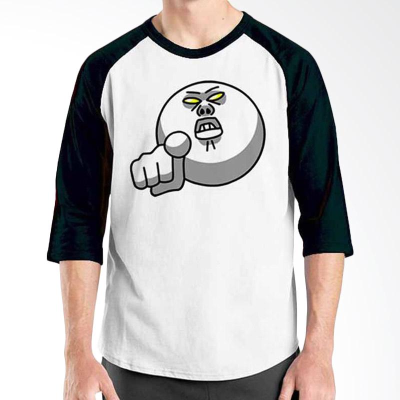 Ordinal Funny Emoticon Edition Moon 01 Raglan