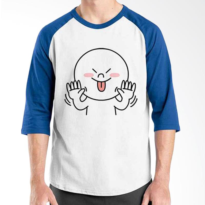 Ordinal Funny Emoticon Edition Moon 02 Raglan