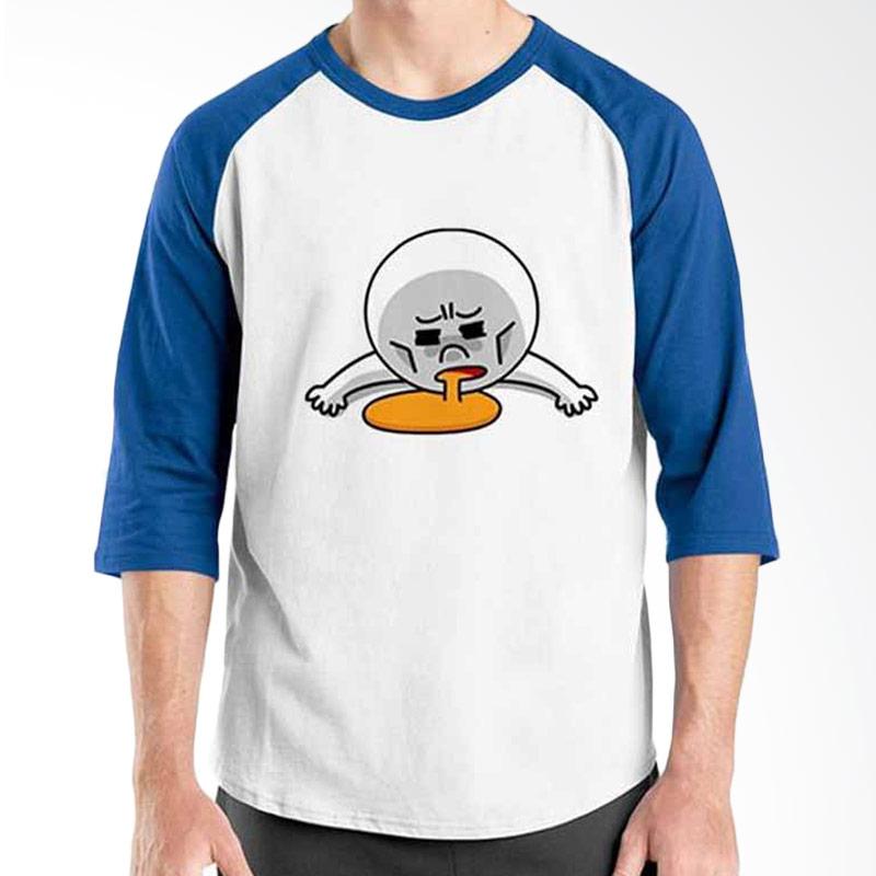 Ordinal Funny Emoticon Edition Moon 03 Raglan