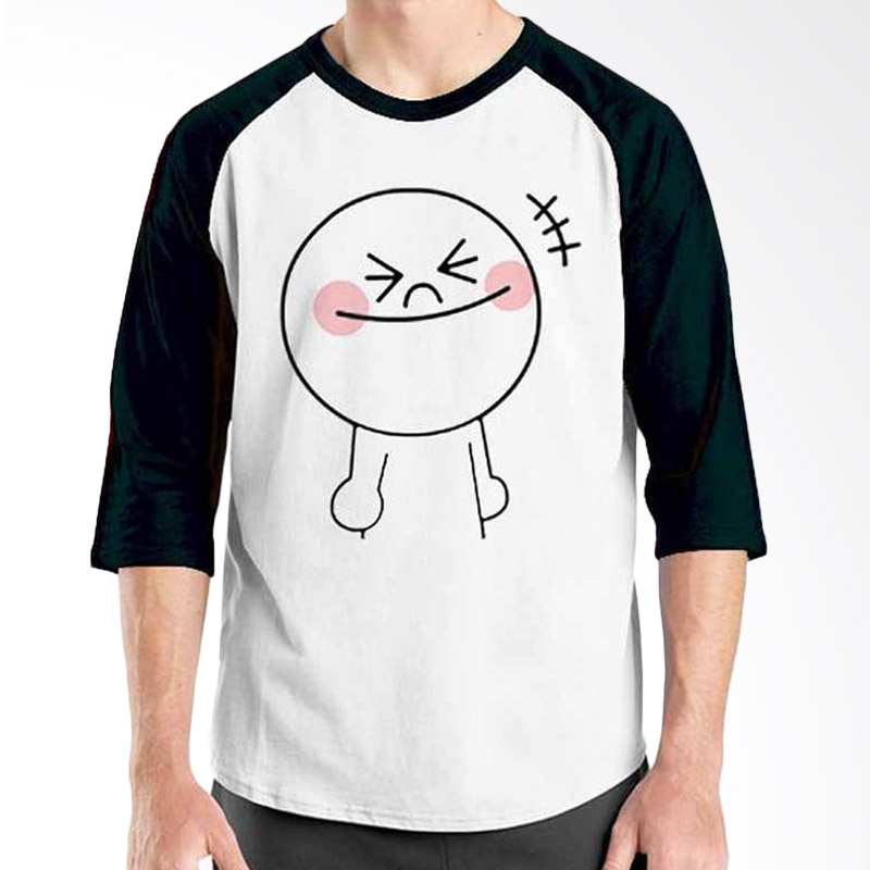 Ordinal Funny Emoticon Edition Moon 07 Raglan