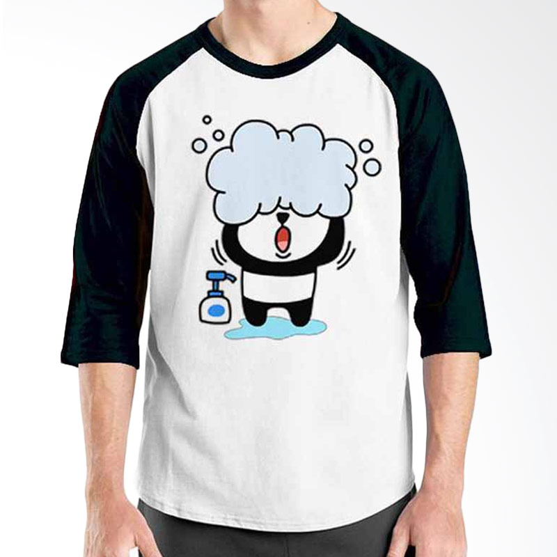 Ordinal Funny Emoticon Edition Panda 01 Raglan