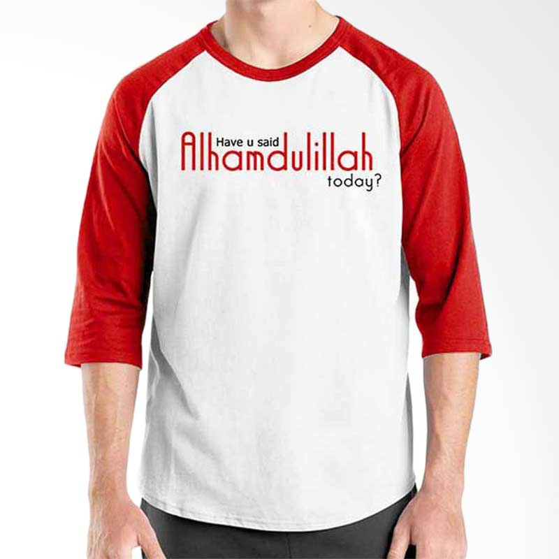 Ordinal Islamic Quotes Edition Alhamdullilah Raglan