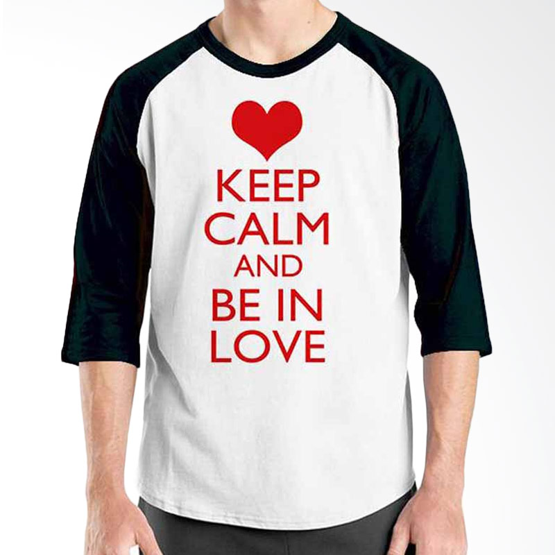 Ordinal Keep Calm and Be In Love Raglan