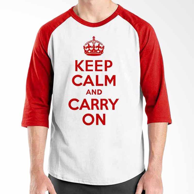 Ordinal Keep Calm and Carry on Raglan
