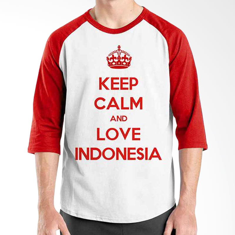 Ordinal Keep Calm and Love Indonesia Raglan