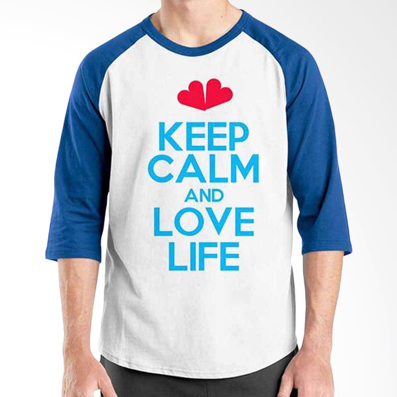 Ordinal Keep Calm and Love Life Raglan