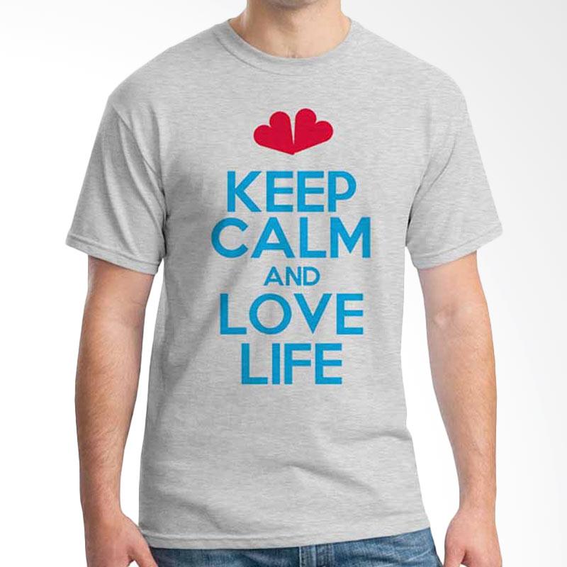 Ordinal Keep Calm And Love Life T-shirt