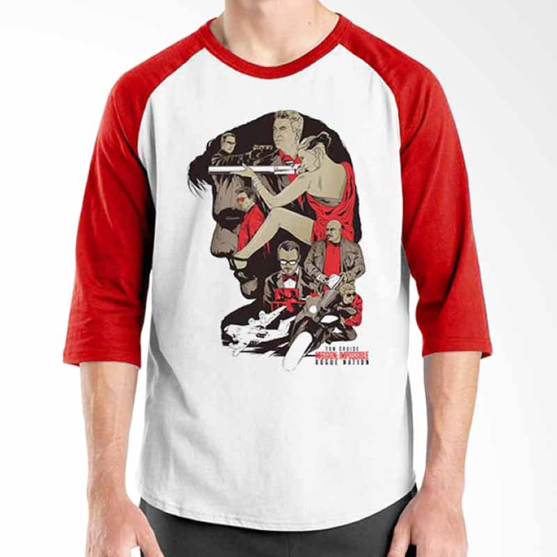 Ordinal Mission Impossible 06 Red White Raglan