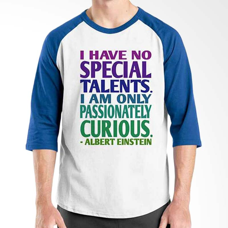 Ordinal Motivation Quotes Edition Albert Einstein Blue White Raglan