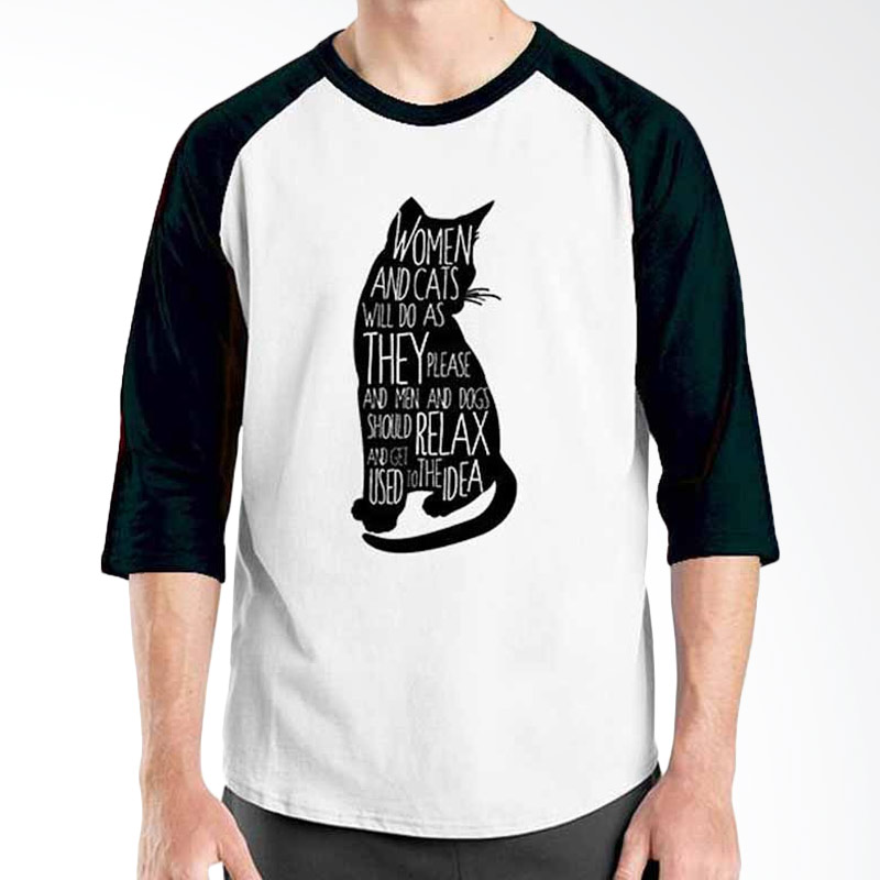 Ordinal Motivation Quotes Edition Cat Black White Raglan