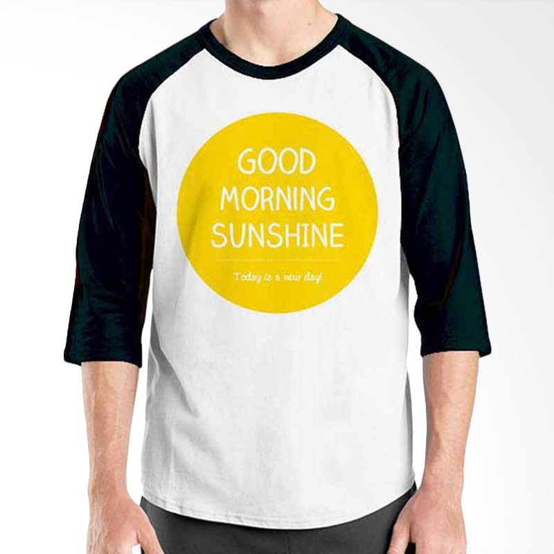 Ordinal Motivation Quotes Edition Good Morning Sunshine Black White Raglan