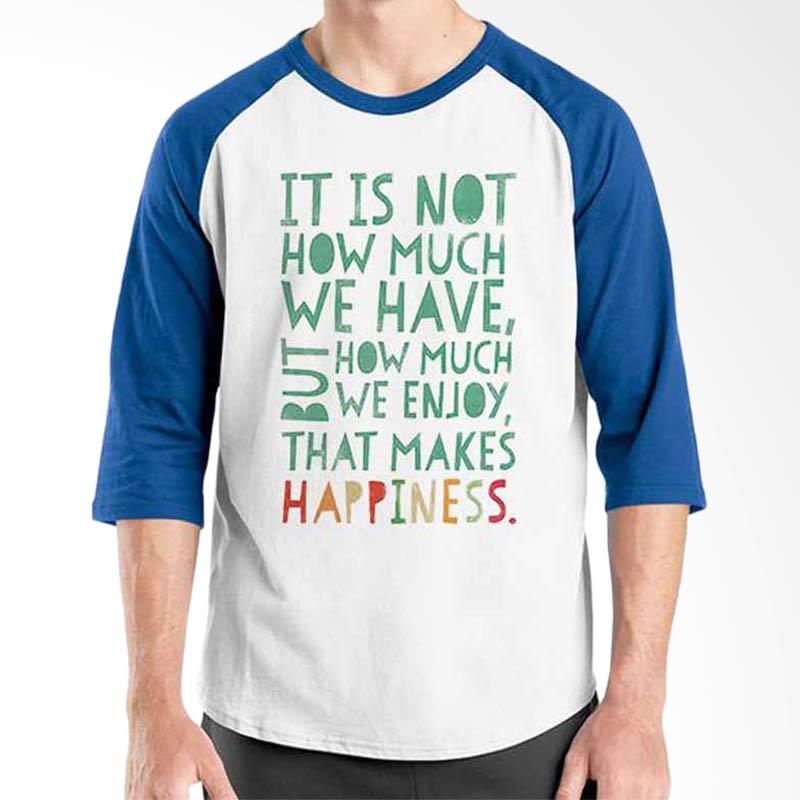 Ordinal Motivation Quotes Edition Happiness Blue White Raglan