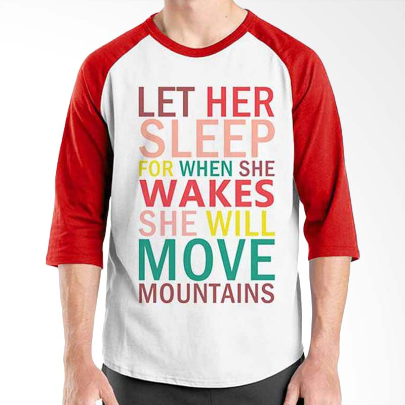 Ordinal Motivation Quotes Edition Move Mountains Red White Raglan
