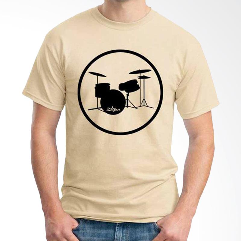 Ordinal Music Gear Edition Drum Beige Kaos Pria