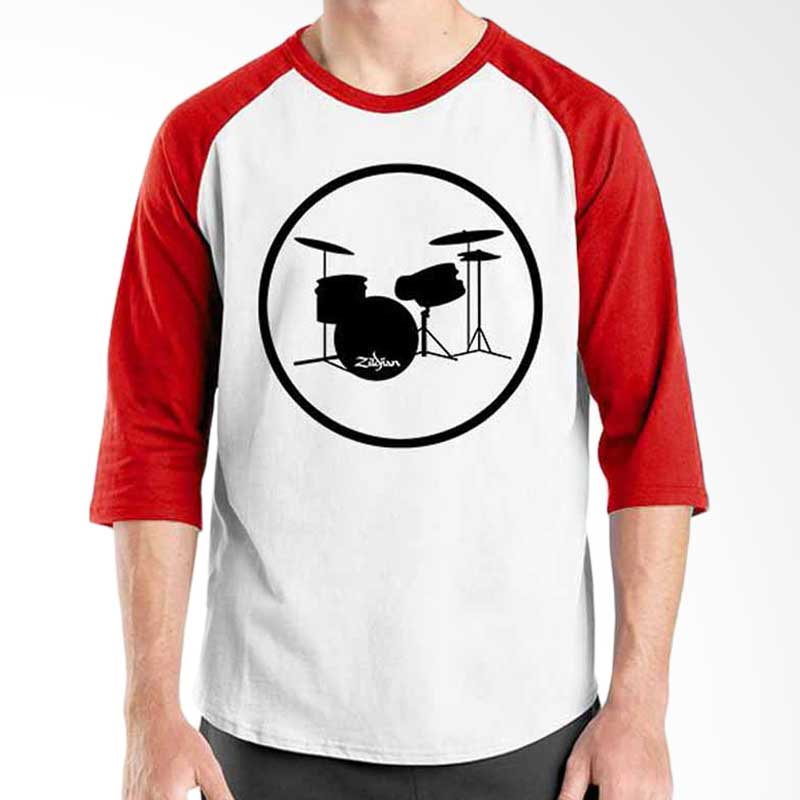 Ordinal Music Gear Edition Drum Red White Raglan