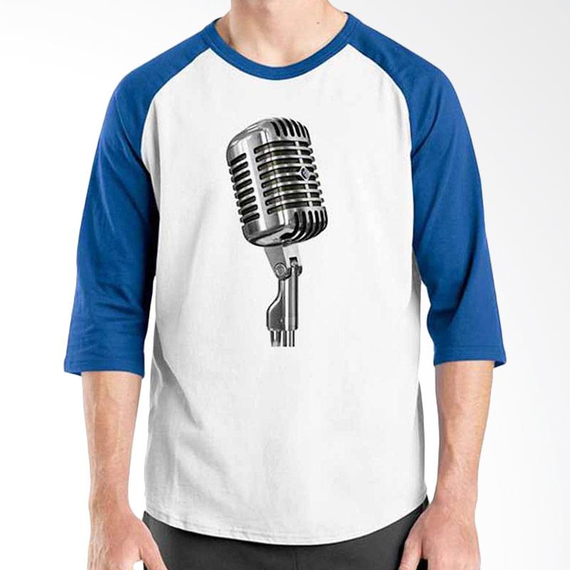 Ordinal Music Gear Edition Microphone Blue White Raglan