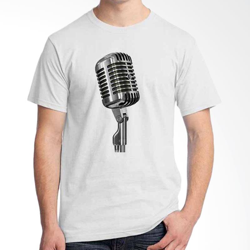 Ordinal Music Gear Edition Microphone White Kaos Pria