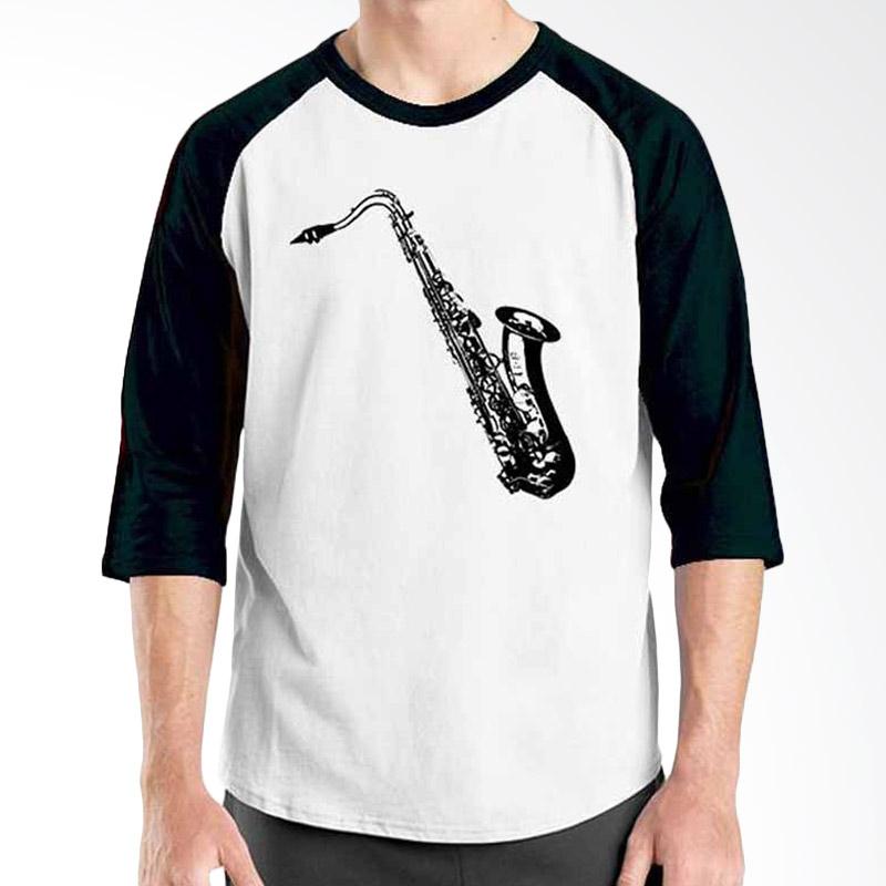 Ordinal Music Gear Edition Saxophone Black White Raglan