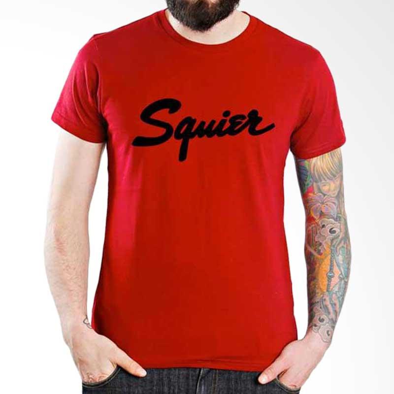 Ordinal Music Gear Edition Squier Red Kaos Pria