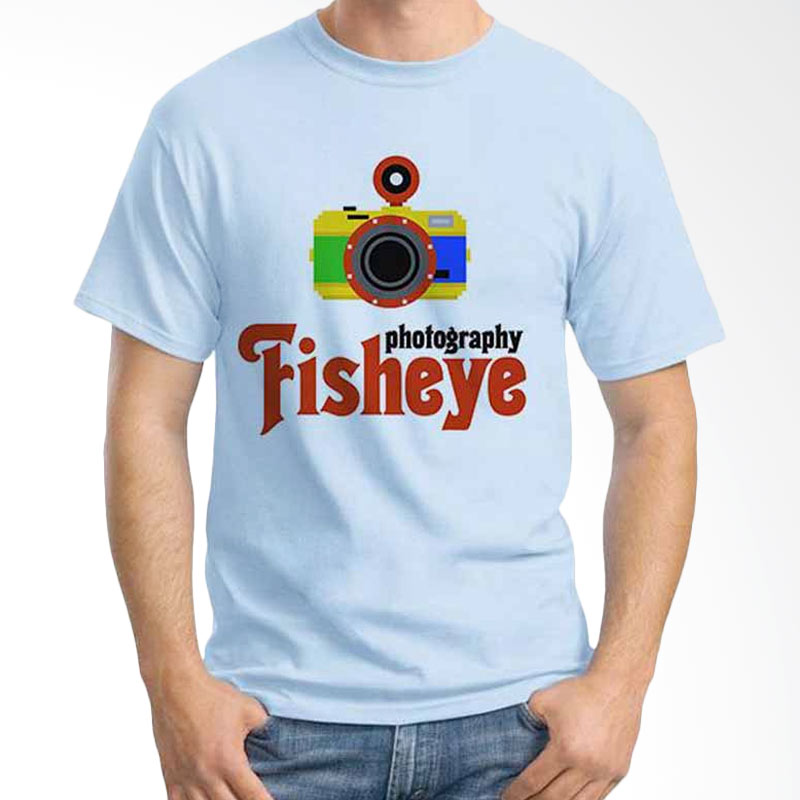 Ordinal Photography Art Fish Eye Light Blue T-shirt