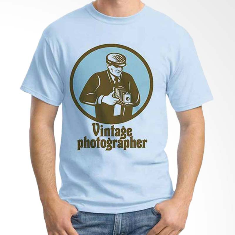 Ordinal Photography Art Vintage Photographer 02 Light Blue T-shirt