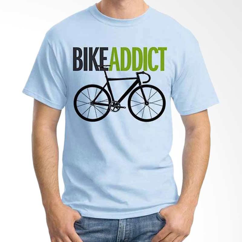 Ordinal Quotes Edition Bike Addict Kaos Pria