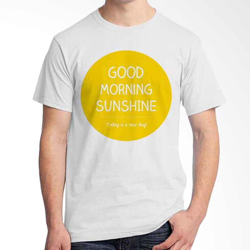 Ordinal Quotes Edition Good Morning Sunshine White T-shirt