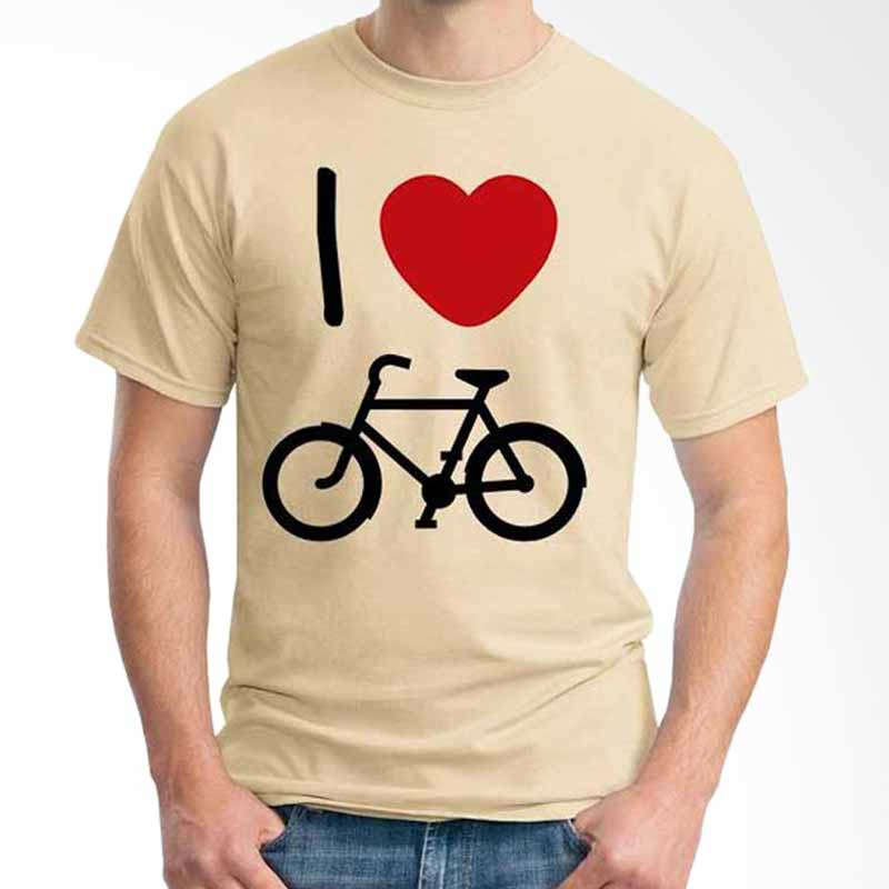 Ordinal Quotes Edition I Love Bicycle Beige T-shirt