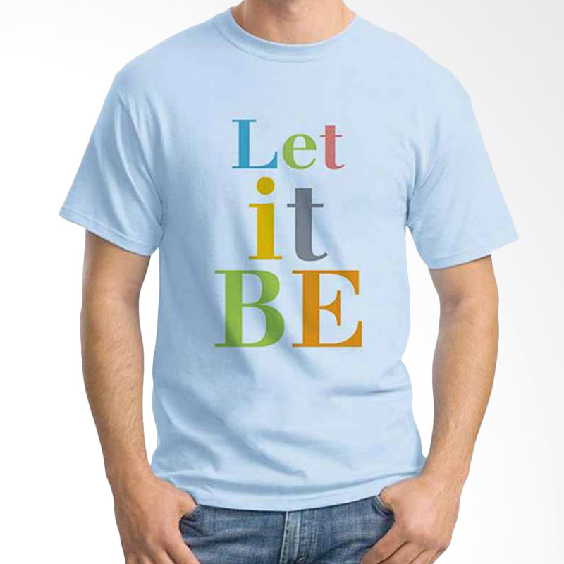Ordinal Quotes Edition Let It Be Light Blue T-shirt