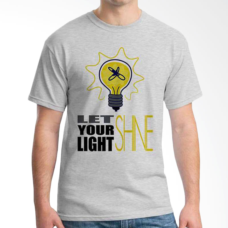 Ordinal Quotes Edition Let Your Light Shine Grey T-shirt
