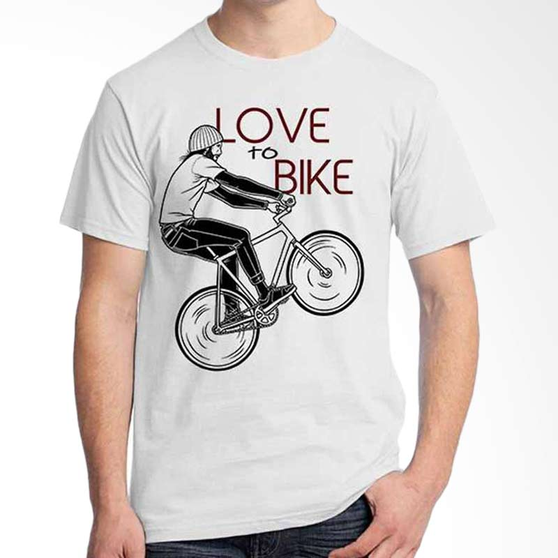 Ordinal Quotes Edition Love To Bike White T-shirt