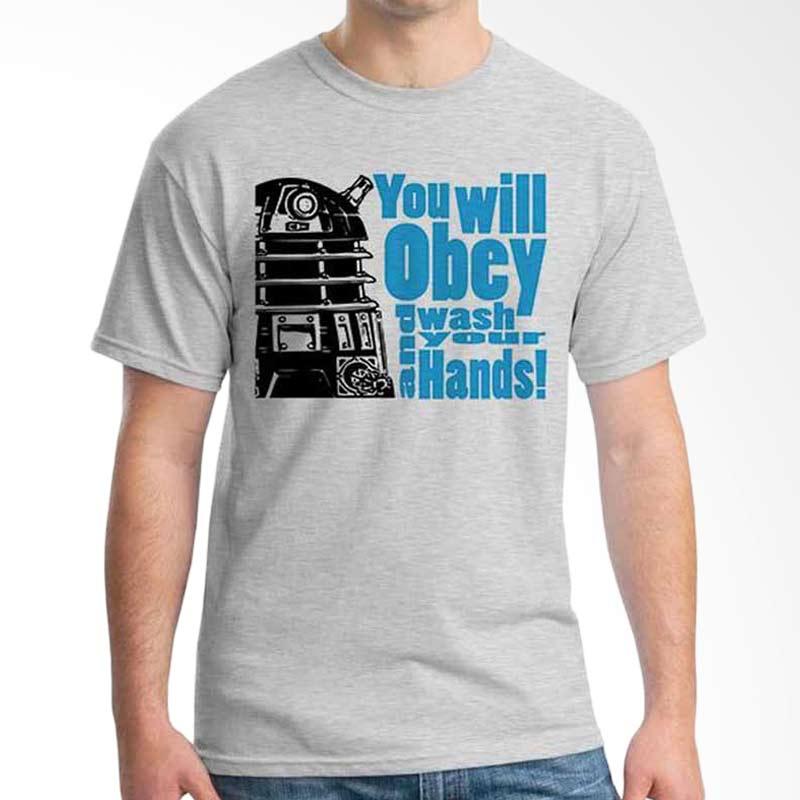 Ordinal Quotes Edition Robot Grey T-shirt