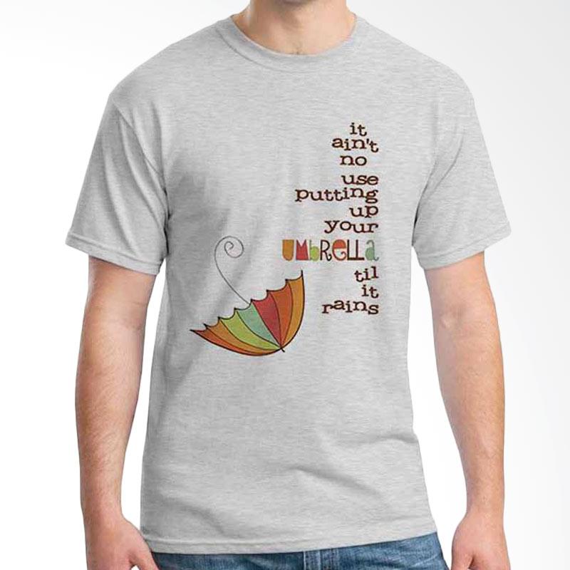 Ordinal Quotes Edition Umbrella Grey T-shirt