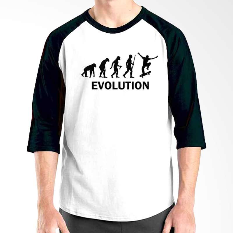 Ordinal Skateboard Edition Evolution Black White Raglan