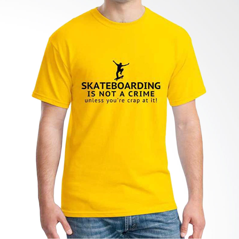 Ordinal Skateboard Edition Is Not Crime Yellow T-shirt