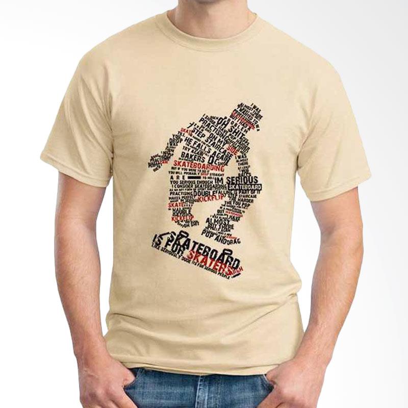Ordinal Skateboard Edition Skate Typography 02 Beige T-shirt