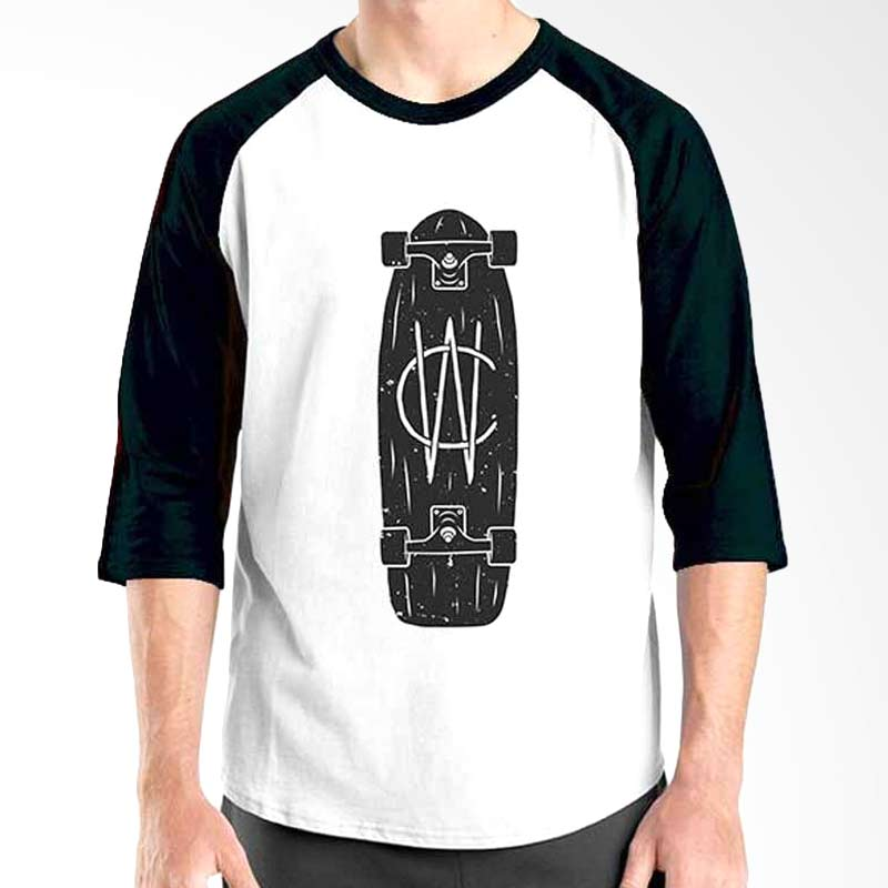 Ordinal Skateboard Edition Skateboard Black White Raglan