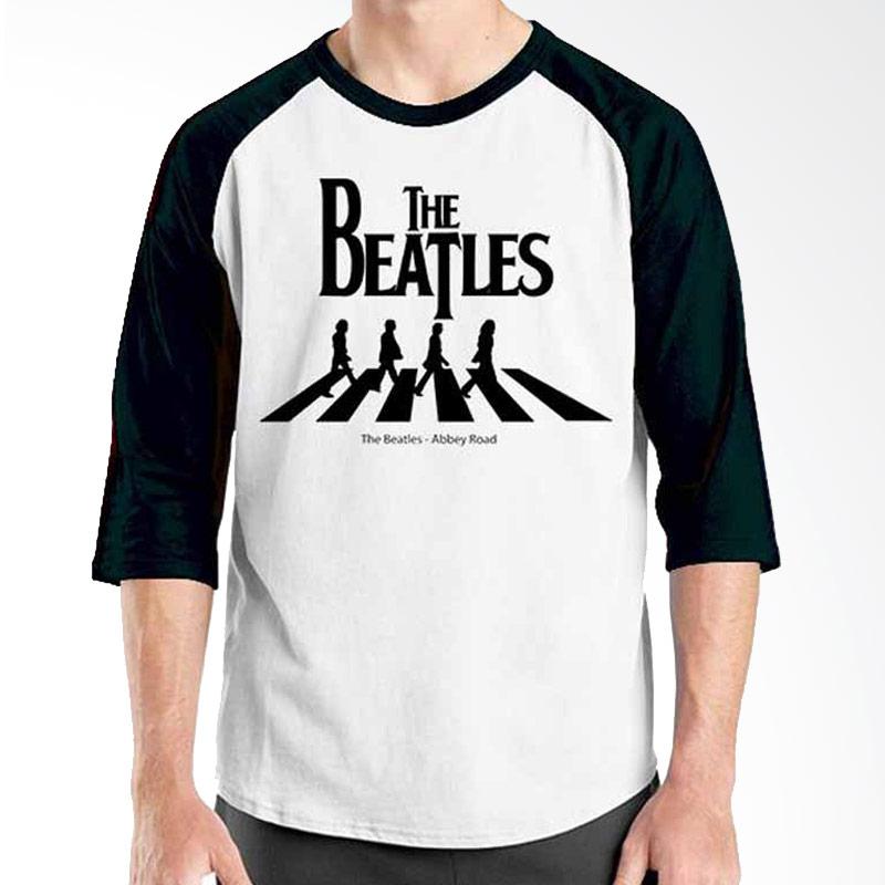 Ordinal The Beatles Abbey Road  Black White Raglan