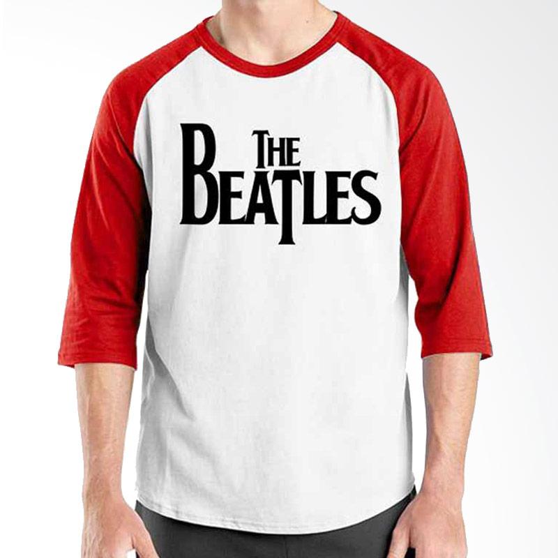 Ordinal The Beatles Logo  Red White Raglan
