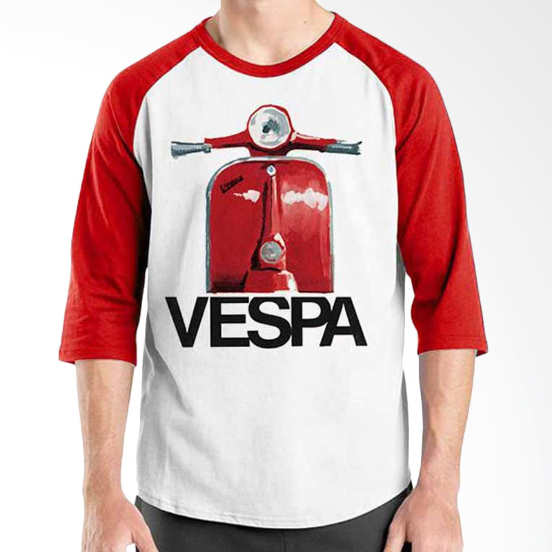 Ordinal Vespa Red Raglan