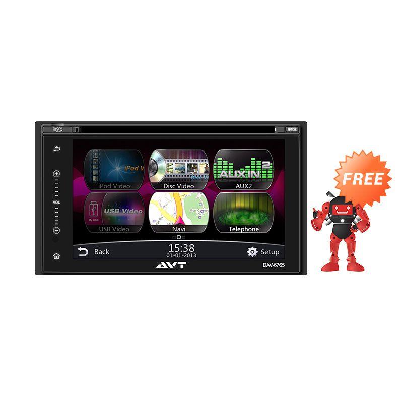 Jual AVT DAV 6765 Double Din Head Unit Flashdisk Online