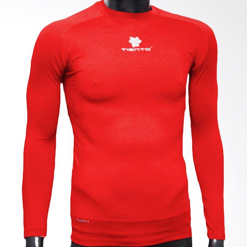 harga Baselayer Manset Rash Guard Compression Tiento Long Sleeve Red White Original (M) (merah) Blibli.com