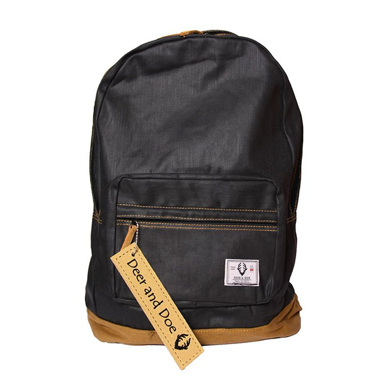 Deer and Doe Backpack Denim Black Coated Tas Ransel
