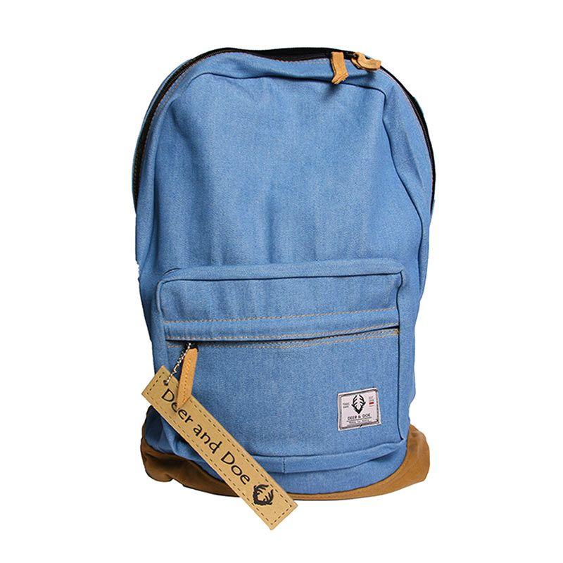 Deer and Doe Denim Blue Jeans Backpack Tas Ransel