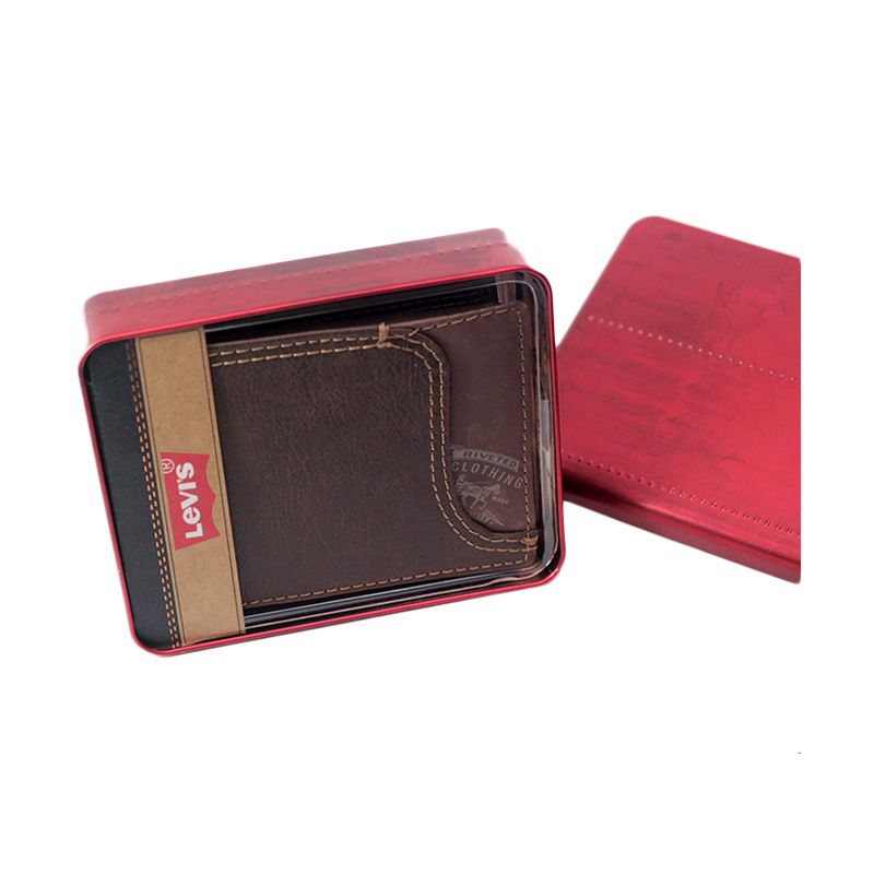 Levi's Passcase Wallet Original Brown Dompet Pria