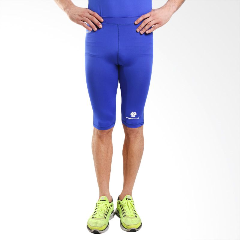 Tiento Baselayer Original Rash Guard Compression Blue Celana Manset Olahraga